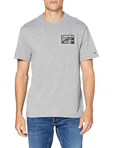 Tommy Jeans Tjm Black Label Tee Camicia Sportiva, Grigio (Lt Grey Htr P01), XX-Large Uomo