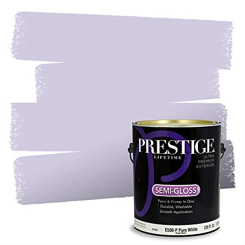 Prestige Paints Exterior Paint and Primer In One, 1-Gallon, Semi-Gloss, Comparable Match of Sherwin Williams* Potentially Purple*