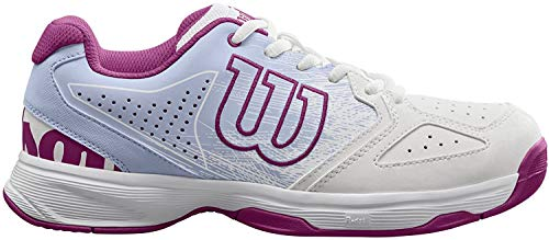 WILSON Unisex-Kinder Stroke Jr Tennisschuhe, Weiß/Pink (White/Halogen Blue/Very Berry), 28 2/3 EU