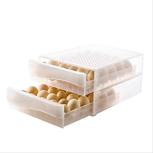 Egg Storage Box 60-Cell Quartz Transparent Large-Capacity Double-Layer Egg Tray Refrigerator Fresh-Keeping Storage Box Plastic