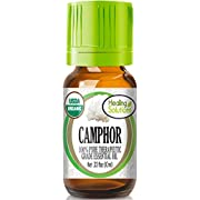 Organic Camphor Essential Oil (100% Pure - USDA Certified Organic) Best Therapeutic Grade Essential Oil - 10ml