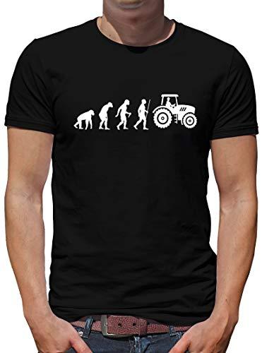 TShirt-People Evolution Traktor - Camiseta para hombre, diseño de evolución de tractor Negro M