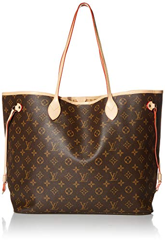 Louis Vuitton Neverfull MM Monogram Bags Handbags Purse (Beige)