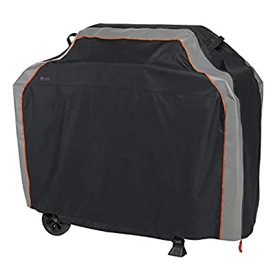Classic Accessories,56-275-041001-EC, SideSlider Water-Resistant 58 Inch BBQ Grill Cover,Black/Gray,Medium