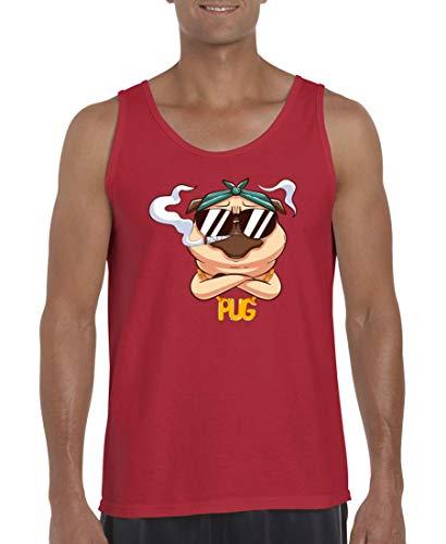 Druckerlebnis24 Camiseta sin mangas para hombre y mujer, diseño de carlino Kiffer