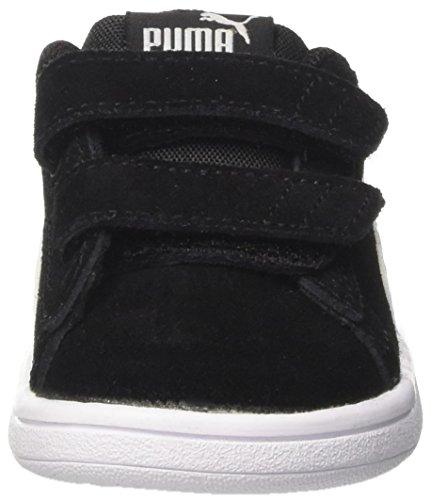 PUMA Smash v2 SD V Inf, Zapatillas Unisex niños, Black White, 27 EU