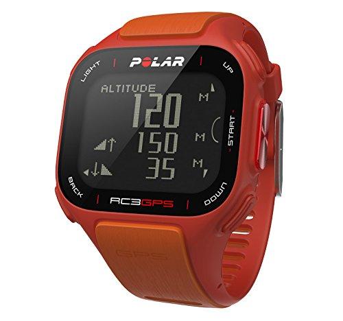 POLAR GPS Trainingscomputer RC3, orange red, 90047382