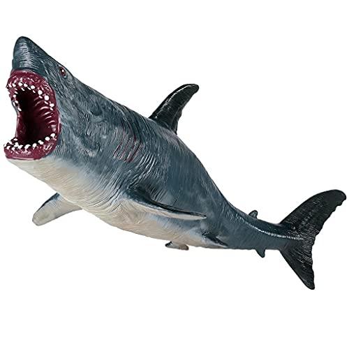 Gran tiburón juguetes megalodon, plástico surtido océano animal tiburón figurilla realista mar criatura cognitivo juguete tiburón figura for el regalo de la colección, juguete de baño, topper de la to