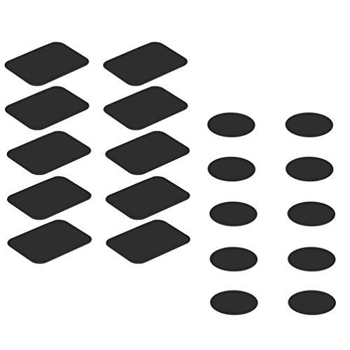 ibasenice 1 Juego de Placa de Metal de Montaje para El Coche Magnético Soporte de Teléfono Soporte Magnético de Montaje de Coche Imán de Montaje