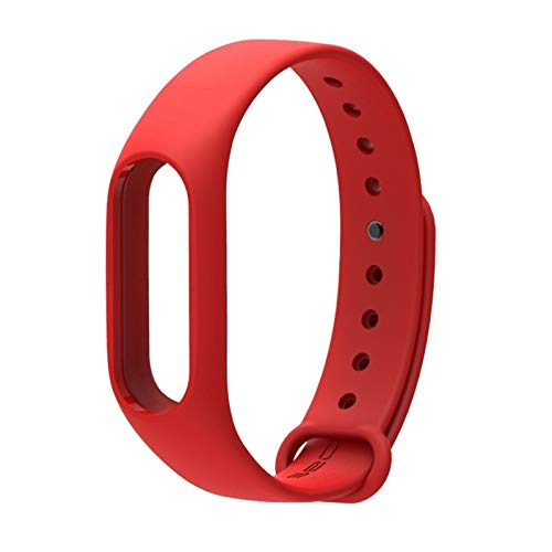 Pulsera de Silicona Correa for la muñeca Accesorios for Xiaomi Mi2 Inteligente Pulsera for Miband 2 Correa de Reloj de Pulsera de Silicona Mi Band2 (Color : Red)
