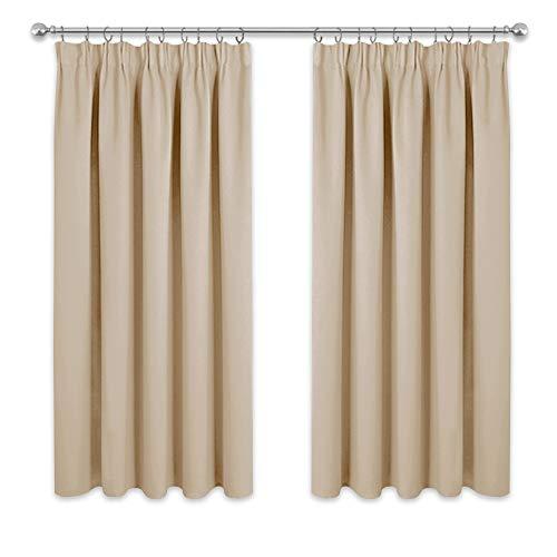 PONY DANCE Bedroom Window Curtains - Short Pencil...