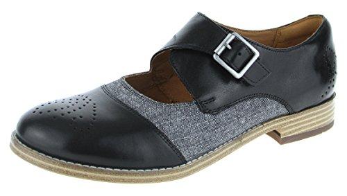 Clarks Trabajo Mujer Zapatos Zyris Nova En Piel Negro Tamaño 37½