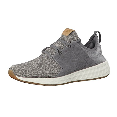 new balance Men's Cruz Grey White Running Shoes - 7 UK/India (40.5 EU) (7.5 US)