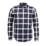 Barbour International Valve Check Shirt Navy-M