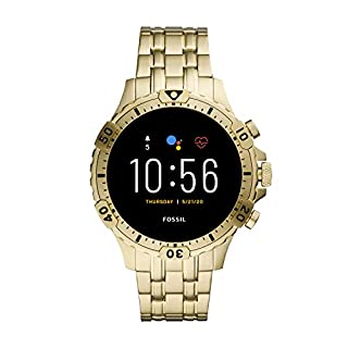 Fossil Gen 5 Garrett HR Heart Rate Stainless Steel Touchscreen Smartwatch, Color: Gold (Model: FTW4039) (B081HR5YX3) | Amazon price tracker / tracking, Amazon price history charts, Amazon price watches, Amazon price drop alerts