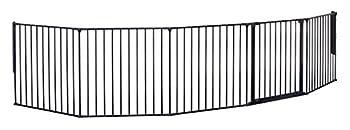 BabyDan Barrière de Sécurité Enfant Multi-Fonction Flex, Noir(Anthracite) (XXL), 90 - 350 cm