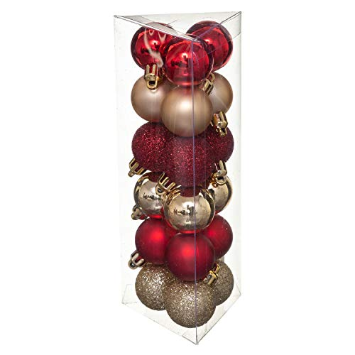 Féérie Lights & Christmas Christmas Tree Decoration Kit – 18 Pieces – Red and Gold