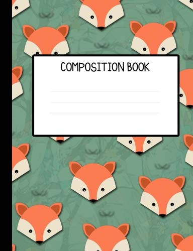 Forest Foxes Wide Ruled Composition Notebook
