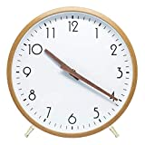 ALEENFOON Reloj de Pared de Madera de Cuarzo de 25 cm, Moderno, silencioso, no Hace tictac, Reloj de Pared de Madera, Reloj de Mesa para Sala de Estar, Dormitorio, Oficina, Cocina
