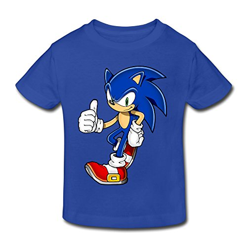 Toddler's 100% Cotton Cool Sonic The Hedgehog Fashion T-Shirt RoyalBlue US Size 4 Toddler