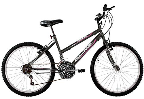 Bicicleta Aro 26 Feminina Dalia 18 Marchas Grafite - Dalannio Bike