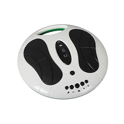 XISURE FußMassager Maschine, Füße Beine Circulation Geräte Arbeiten mit EMS Anreger, Elektrische Muskel Puls-Massage-Therapie, 2 Elektrodendrähte, 4 Körper-Pads, Schmerzen lindern für Fuß