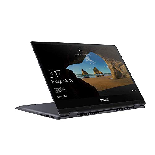 ASUS VivoBook Flip 14 TP412UA (90NB0J71-M05090) 35,5cm (14 Zoll, FHD, Glare, Touch) Convertible Notebook (Intel Pentium Gold 4415U, 4GB RAM, 128GB SSD, Intel HD-Grafik 610, Windows 10) Star Grey