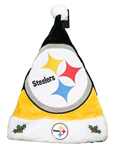 FOCO NFL Pittsburgh Steelers 2018 Basic Santa Hat, Team Color, One Size