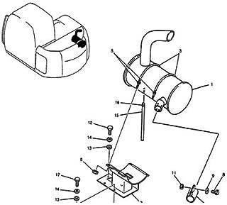 FridayParts Muffler Silencer YX12P00006P3 for Kobelco Excavator Kobelco ED150 K115SRDZ SK135SR SK135SRL SK135SRLC SK135SR-1E