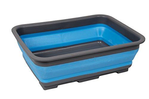 Bo-Camp Unisex BC opvouwbare rechthoekige wastafel, blauw/grijs, 7 liter
