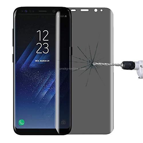 DACHENGJIN Dchenengjin Moblie Glass Screen for Galaxy S8 + / G9550 0.3mm 9H Oberflächenhärte 3D gebogener Datenschutz Blendschutz Full Screen gehärtetes Glas Displayschutzfolie Dchenengjin