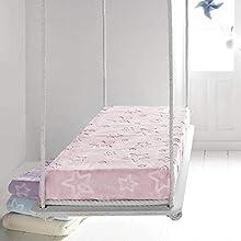 PIELSA BABY - 6627-63 | Manta bebe | Manta bebe recién nacido | Manta bebe invierno | Manta bebe meses | Manta bebe gofrado | Manta de cuna | Color Rosa | Tamaño 110 x 140