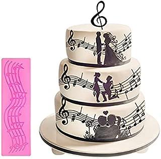 S.Han Silicone Music lace Fondant Mould Gumpaste Mold Cake Decorating Tool Baking bakeware