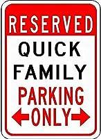 金属看板クイックファミリーパーキングノベルティスズストリートサイン
