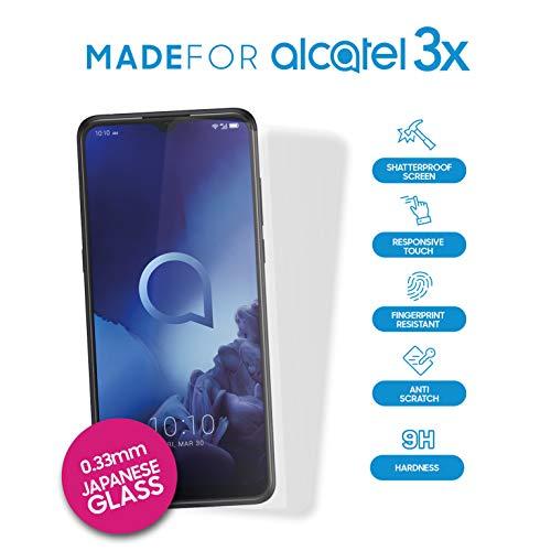 Alcatel 3X Protector de Pantalla de Cristal
