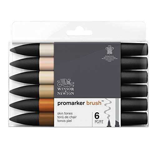 Winsor & Newton ProMarker Brush, Tons Chair, Set de 6 marquers
