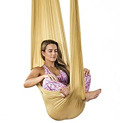 Healthy Model Life Silk Aerial Yoga Swing & Hammock Kit