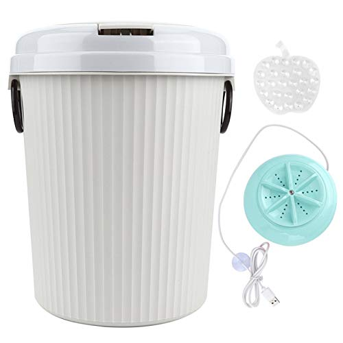 Lavadora eléctrica, lavadora de ropa interior, 8L 18W Mini USB con alimentación portátil, lavadora de ropa, lavadora(azul)