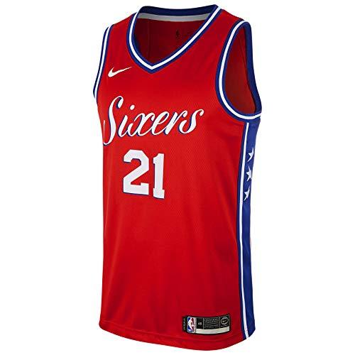 Nike Joel Embiid Philadelphia 76ers Red Swingman Statement Edition Jersey - Men's L (Large)