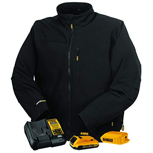 DEWALT DCHJ060A Heated Soft Shell Jacket Kit with 2.0Ah Battery & Charger
