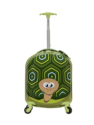 Rockland Jr. Kids' My First Hardside Spinner Luggage, Turtle, Carry-On 19-Inch