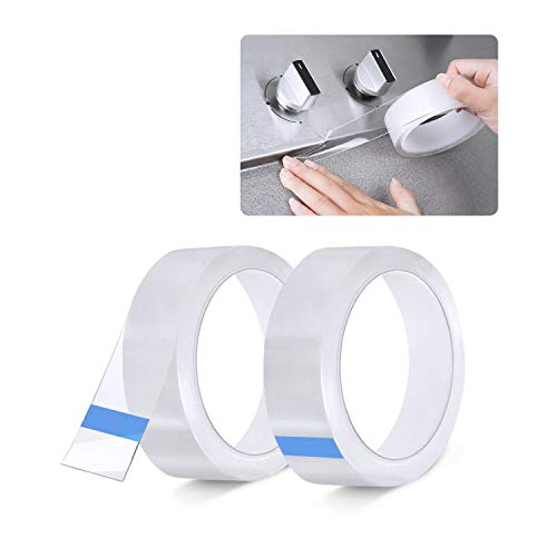 2 Rollen Dichtband Selbstklebend, Waterdichte en Schimmelbestendige Tape, Wannendichtband, für Fenster Tür WC Küche Bad, Lücke, Fliese,Waschbecken (Transparente Farbe)