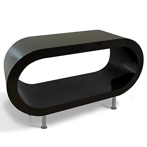 Zespoke Design Retro Tableau Noir Brillant Anneau de Café TV/Meuble en Différentes Tailles