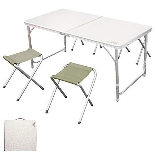 アウトレット品 アウトドアテーブル 120cm 4Pチェアセット 4人用 折りたたみテーブル アルミテーブル レジャーテーブル ピクニックテーブル 高さ2段階調整 軽量コンパクト キャンプテーブル イス 椅子 折りたたみ アウトドア バーベキュー お花見