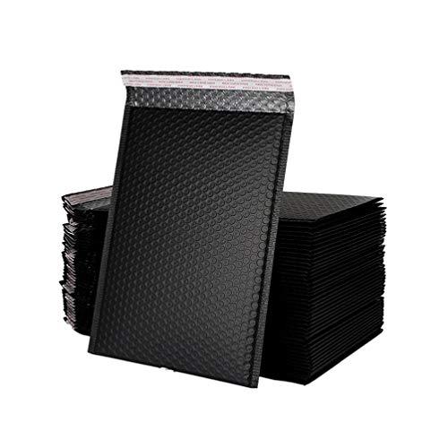 Nuobesty B/00 - Sobres acolchados de plástico para envíos postales, impermeables, 25 unidades, color negro (15 x 20 + 4 cm), color Negro 25 * 33 cm