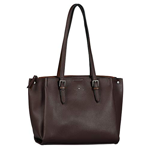 TOM TAILOR Acc Damen Tania Shopper, Dunkelbraun, M