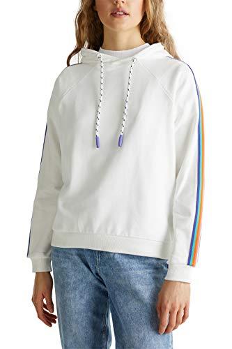 edc by Esprit 020CC1J301 Sudadera, Blanco (Blanco 110), M para Mujer