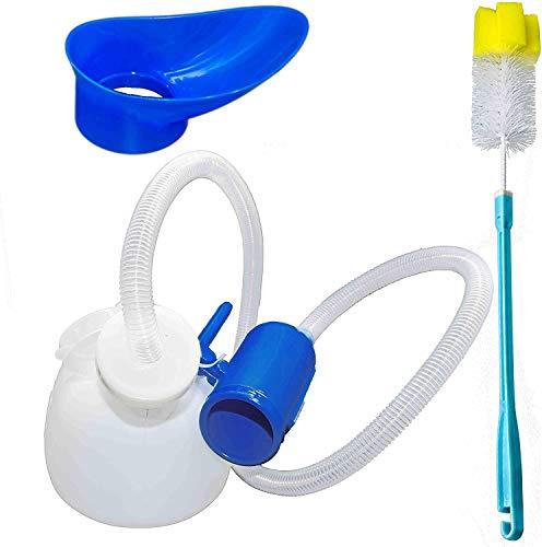 Urinarios unisex, Daletu 2000ML Urinario para hombres y mujeres Botella de orina de gran capacidad de plástico reutilizable portátil a prueba de derrames