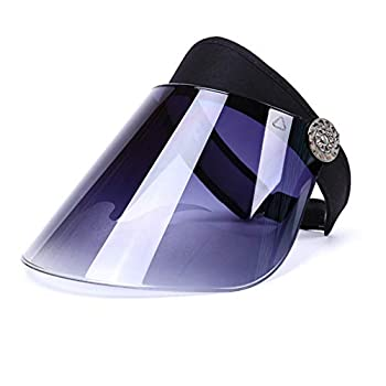 Sun Plastic-Visor Hats UV-Shield Protection Hat - Tennis-Viosrs  Black