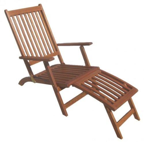Chaise longue en bois d'eucalyptus certifié fSC huilé